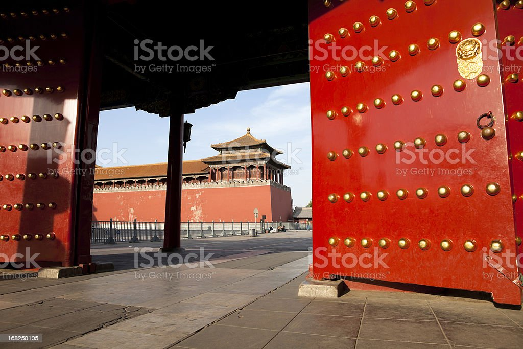 Entrance of Forbidden City royalty-free stock photo