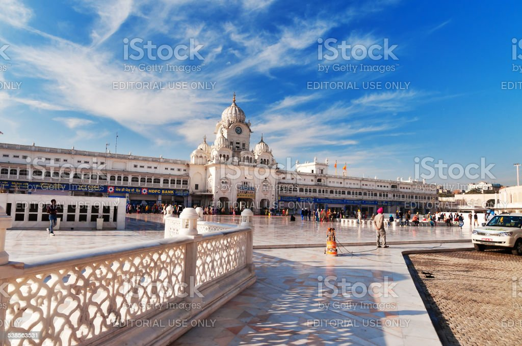 Entrance of Golden Temple. Amritsar. India stock photo