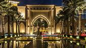 istock Entrance of Hotels, offices and Souk near Burj Khalifa the tallest building in the world timelapse hyperlapse in Dubai, UAE 1293030551