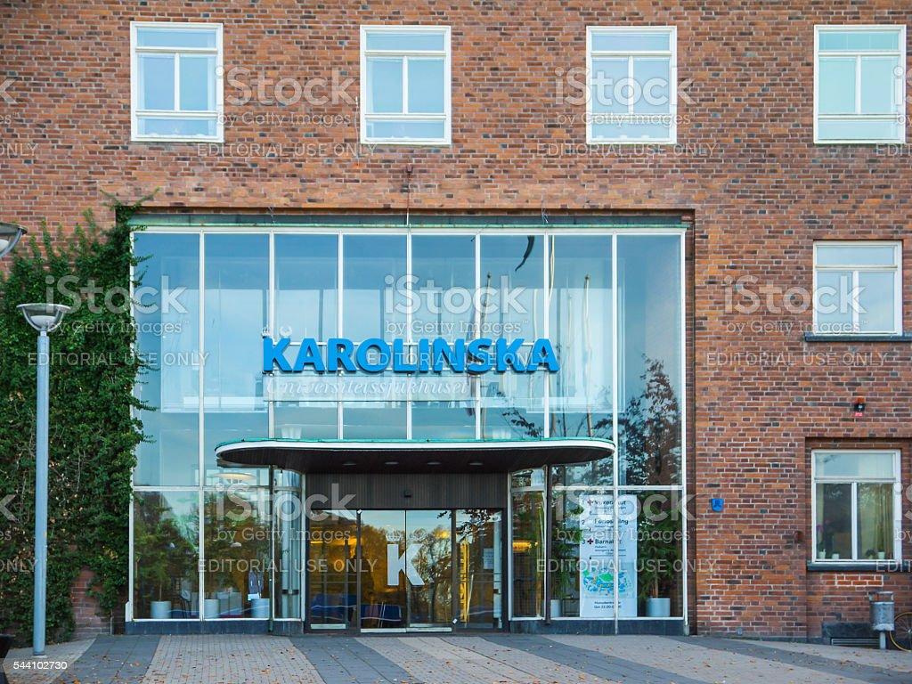Entrada de Karolinska Instituto de Suecia foto de stock libre de derechos