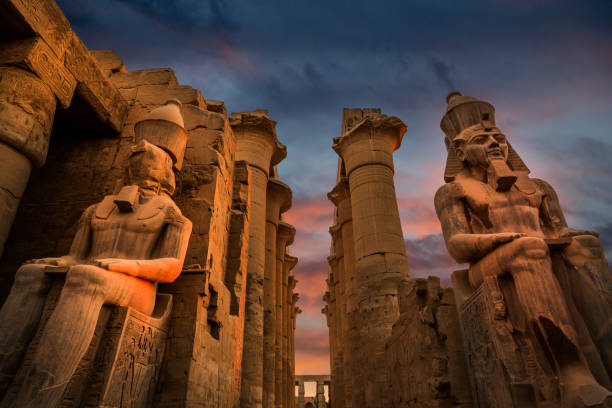 Entrance of Luxor Temple, Egypt stock photo stock photo