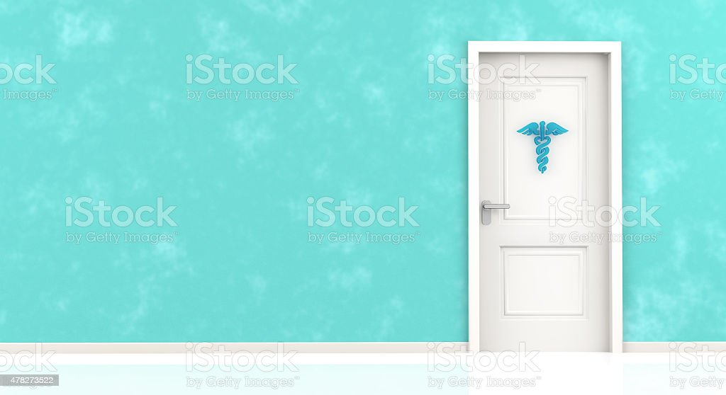 entrance of medical office stock photo