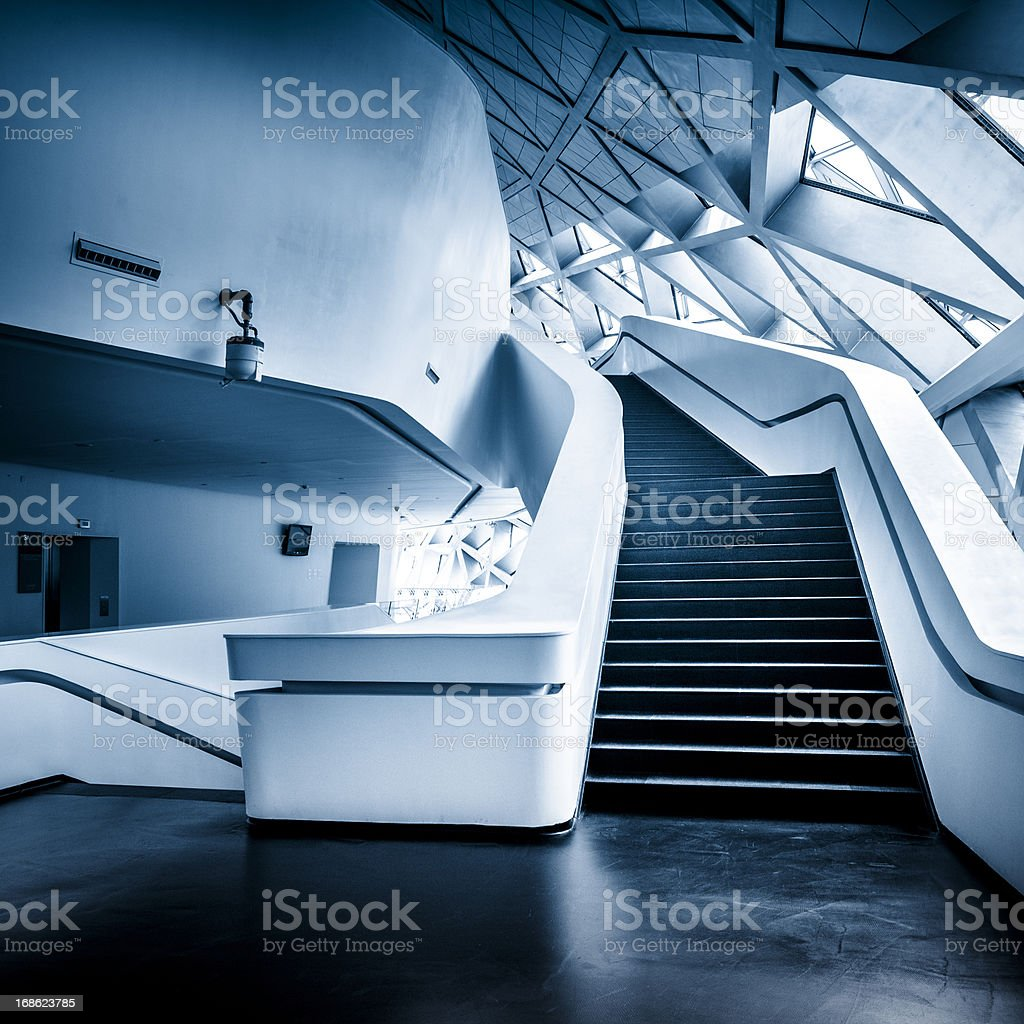 entrance of Modern Architecture royalty-free stock photo