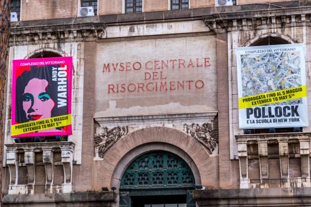 ingången till museum of risorgimento - italy poster bildbanksfoton och bilder