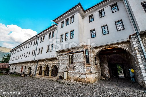 Archway Entrance Of Old St. Naum Church In Ohrid, Macedonia