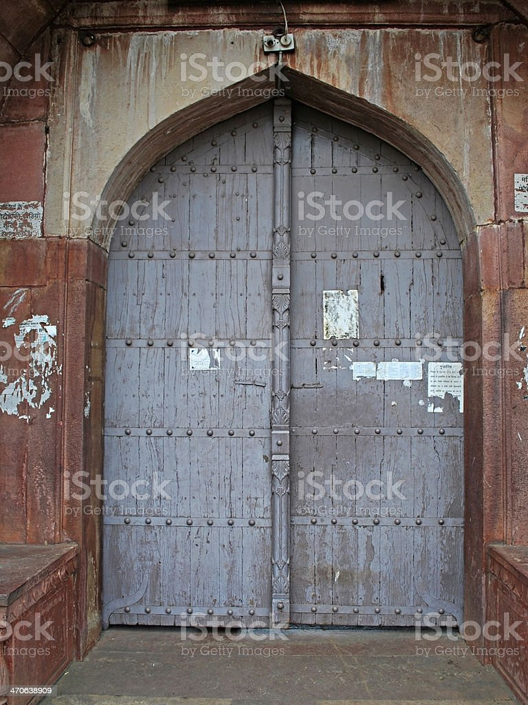 Entrance of Pearl Mosque, Moti Masjid stock photo