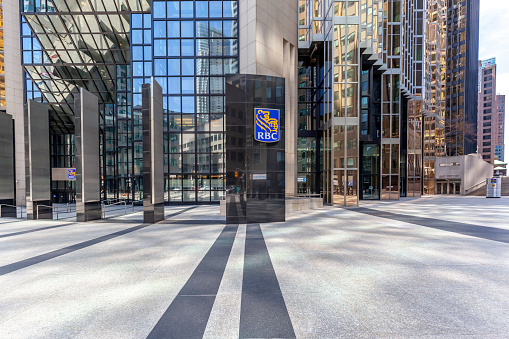 Entrance Of Rbc At Head Office In Torontos Financial District Stock Photo - Download Image Now