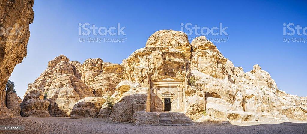 Entrance of Siq al-Barid / Jordan royalty-free stock photo
