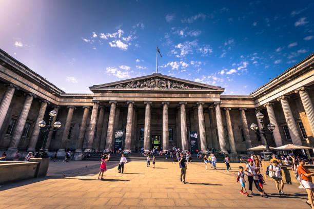 London - 6. August 2018: Eingang des British Museum in London, England – Foto