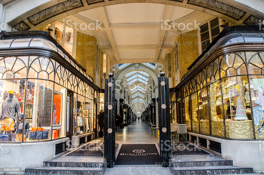 Entrance of the Burlington Arcade Shopping Mall royalty-free stock photo