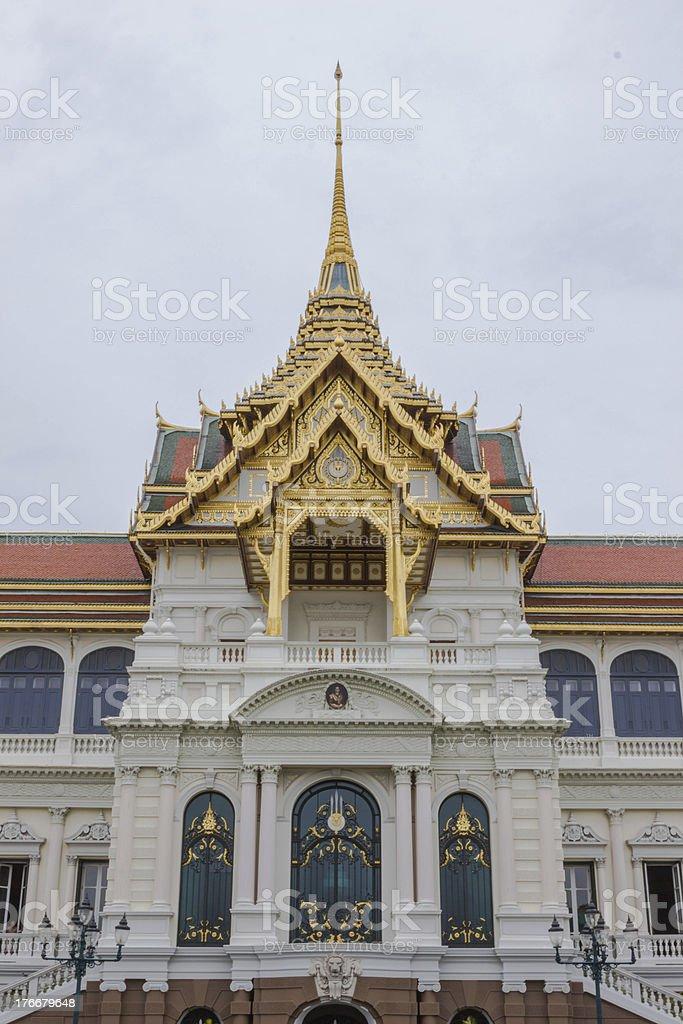 Entrance of the Chakri Maha Prasat hall royalty-free stock photo