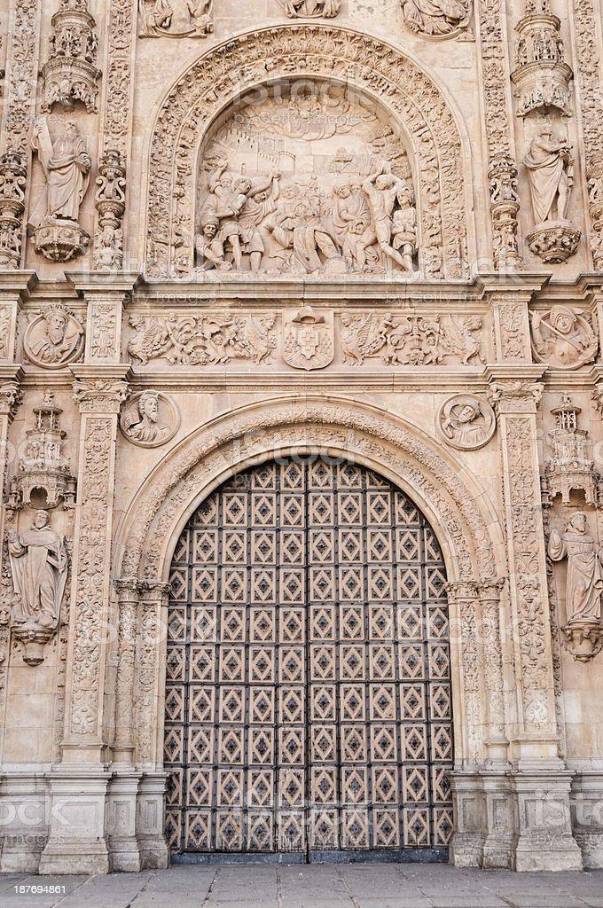 Entrance of the Convento de San Esteban, Salamanca, Spain royalty-free stock photo