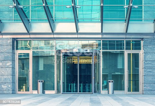 178842131 istock photo Entrance of the modern building. 507839056