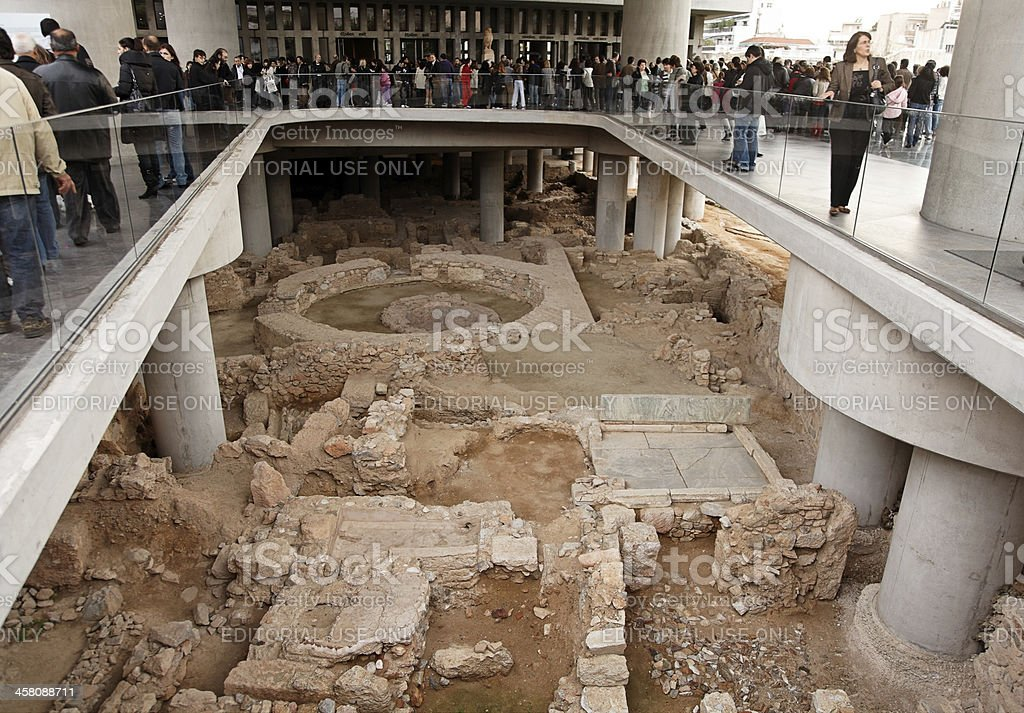 Entrance of the new Acropolis Museum stock photo