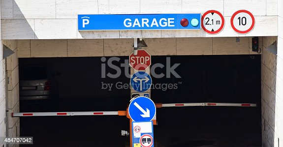 istock Entrance of the parking garage 484707042