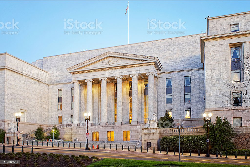 Entrance of the Rayburn House Office Building stock photo