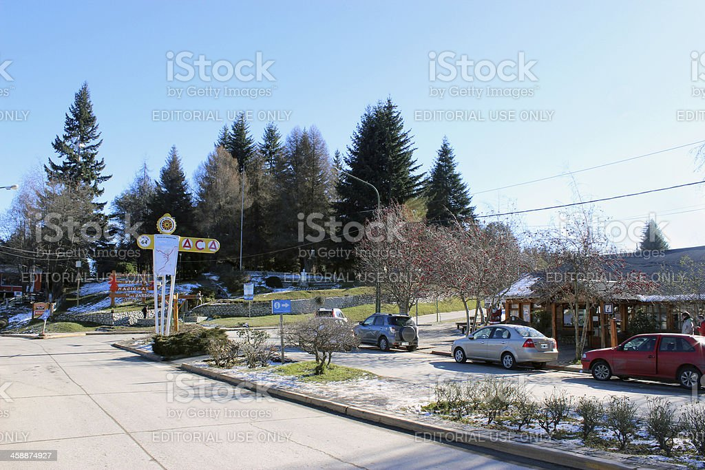 Entrance of the Villa La Angostura City - Argentina stock photo