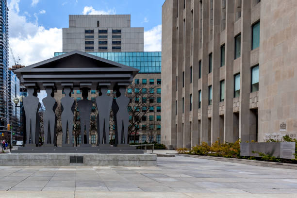 Entrance of Toronto Courthouse in Toronto, Canada. stock photo
