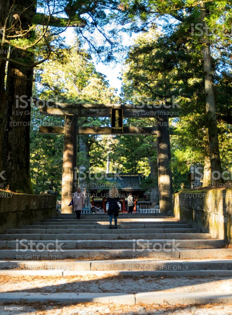 Entrance of Toshogu temple in Nikko national park stock photo