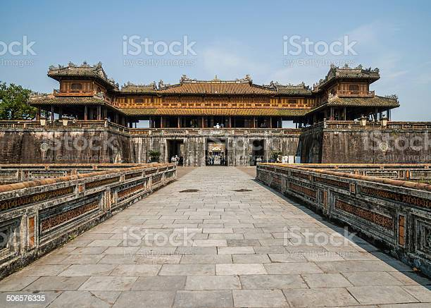 Entrance Palace And Gate To The Hué Citadel Stock Photo - Download Image Now