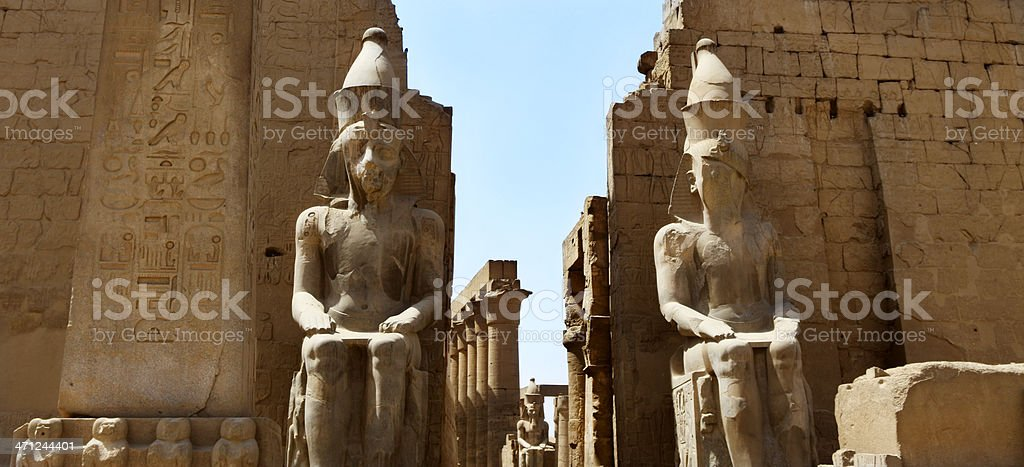 Entrance Pylon at Luxor Temple stock photo