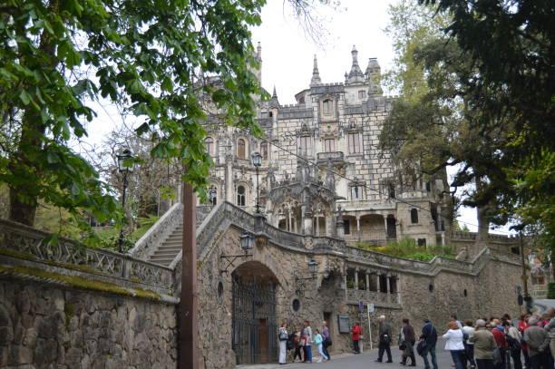 Eingang Quinta De La Regaleira Historisches Zentrum UNESCO-Welterbe von Carvalho Monteiro Im 17. Jahrhundert der Römer, Gotik, Renaissance und Manuelina In Sintra gebaut – Foto