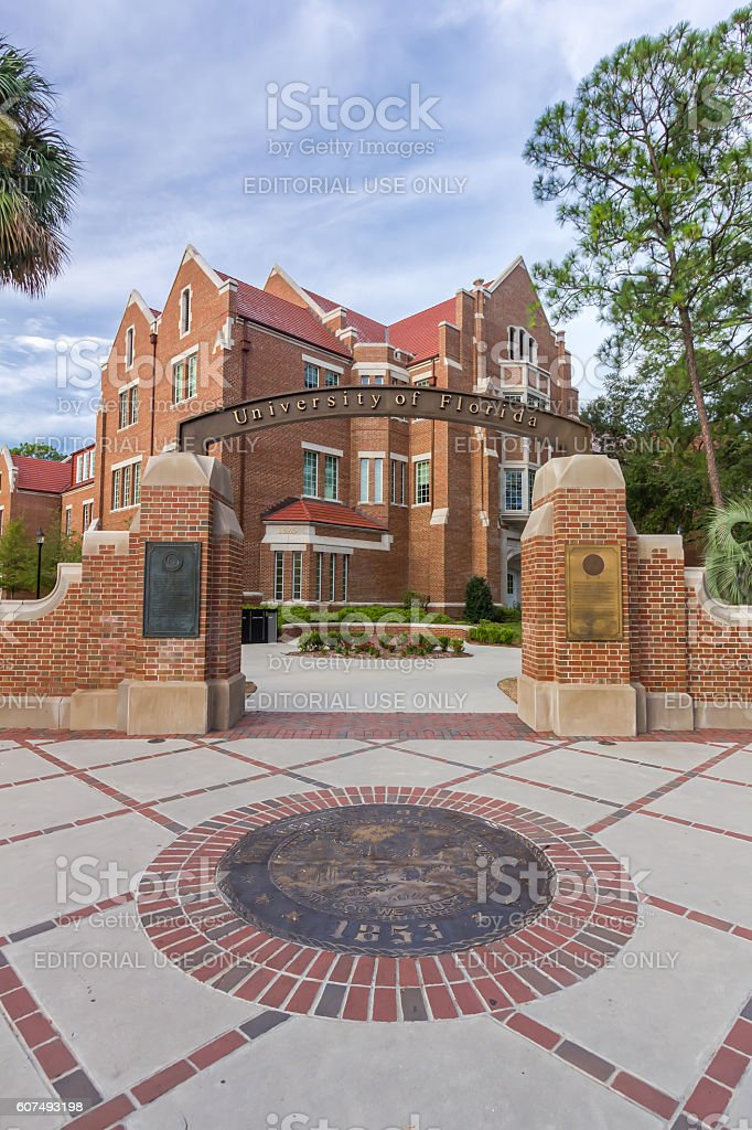 Entrance Sign at the  University of Florida stock photo