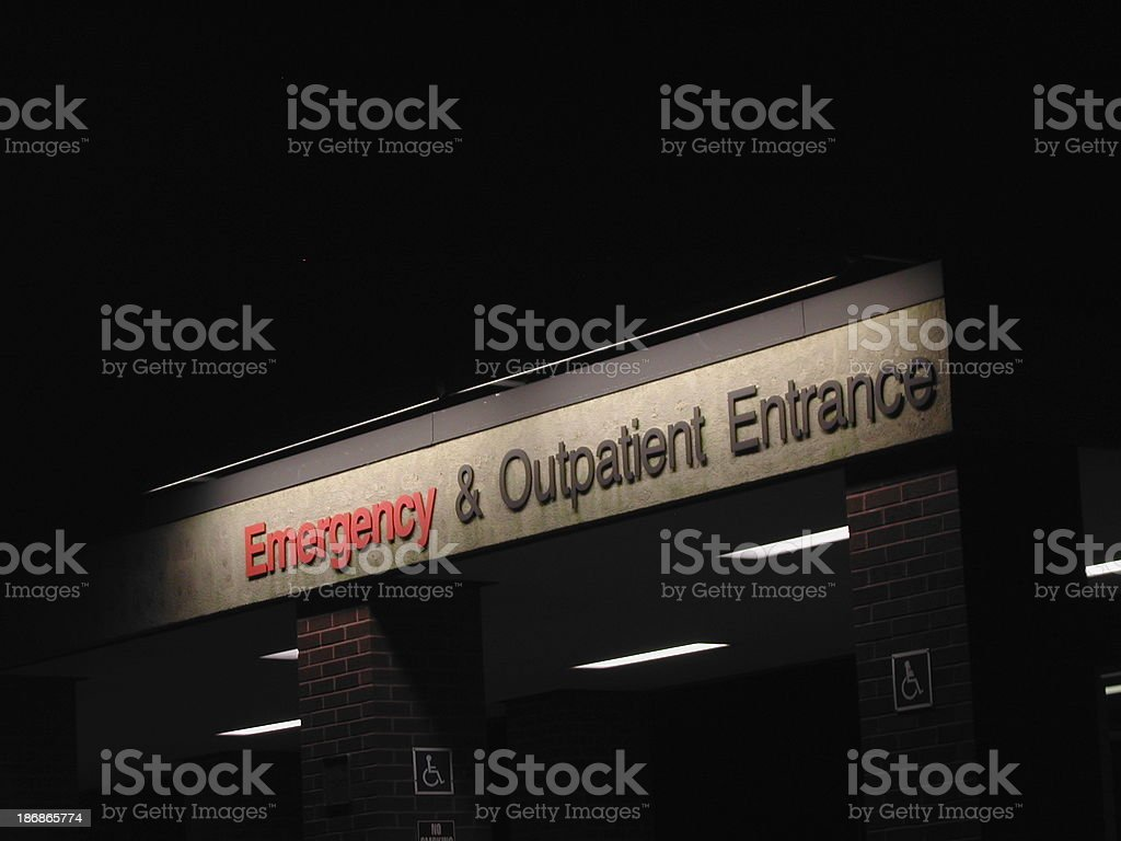 ER Entrance Sign royalty-free stock photo
