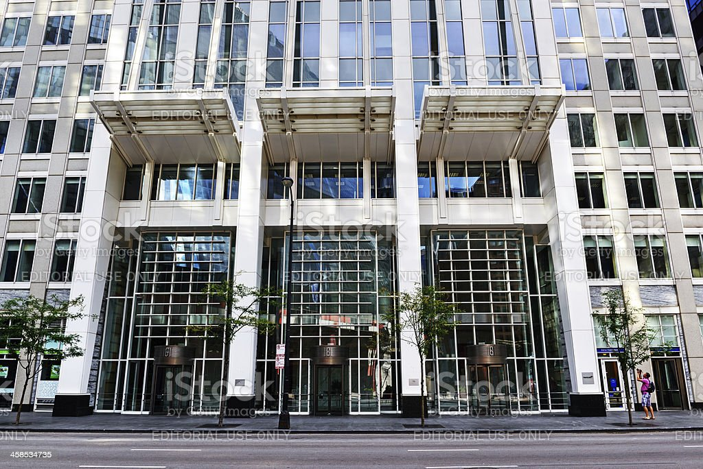 Entrance to 161 North Clark Street, Chicago royalty-free stock photo