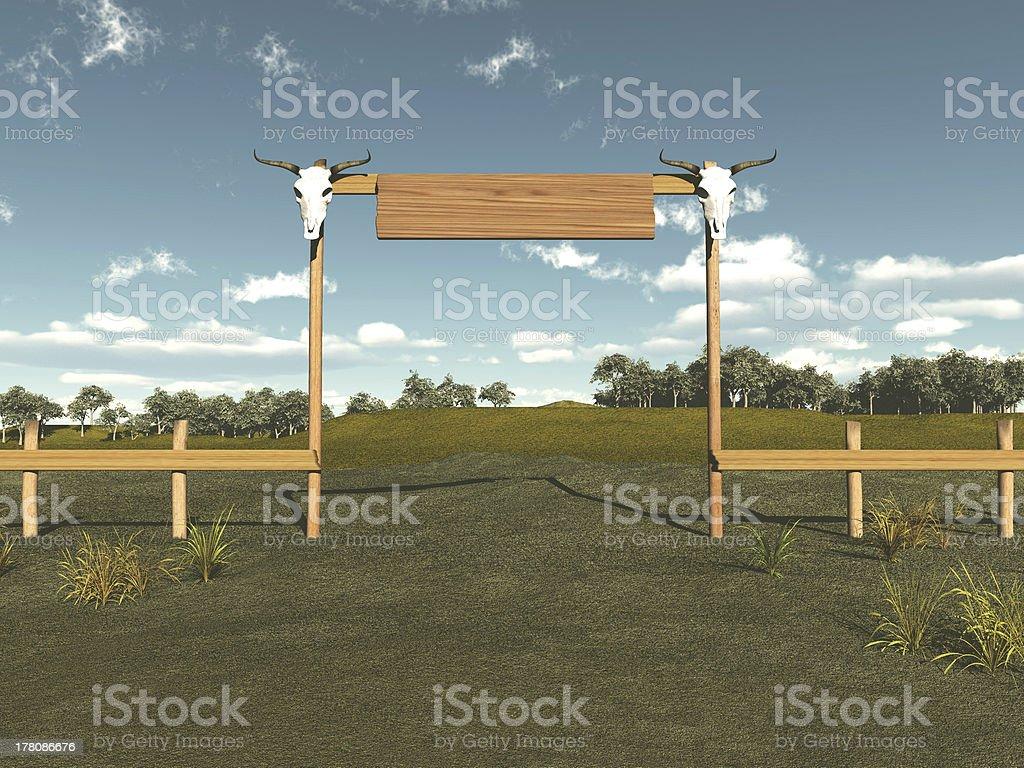 Eingang zu einer Rinderfarm – Foto