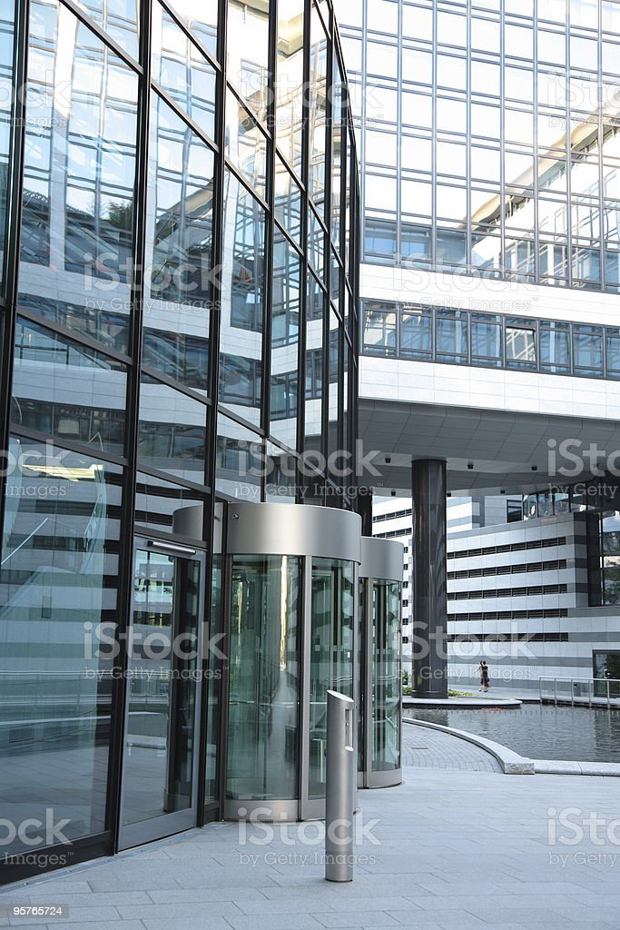 Entrance to a Corporate Building royalty-free stock photo