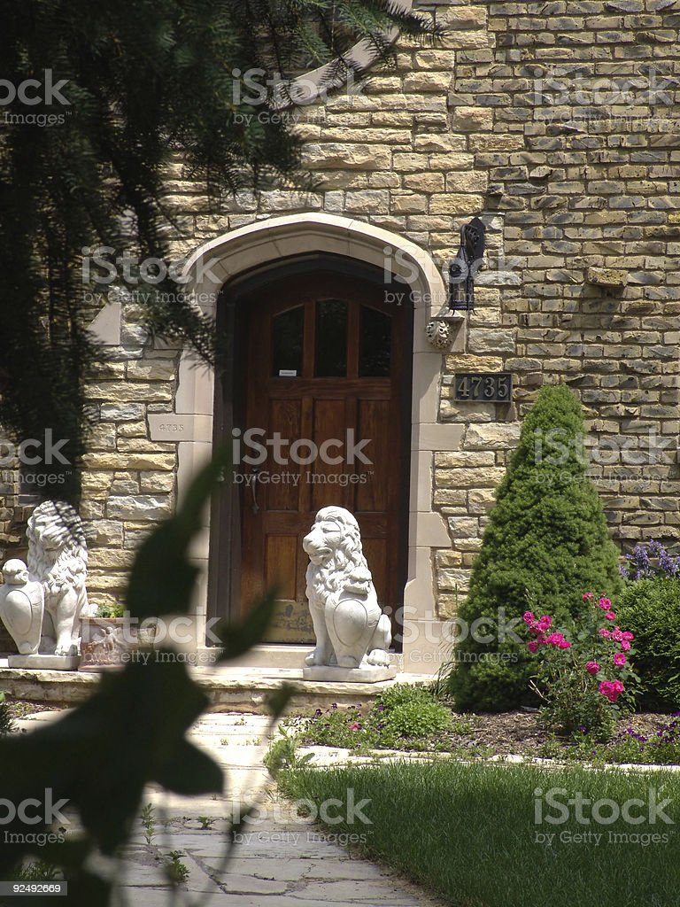 Entrance to a Mansion royalty-free stock photo