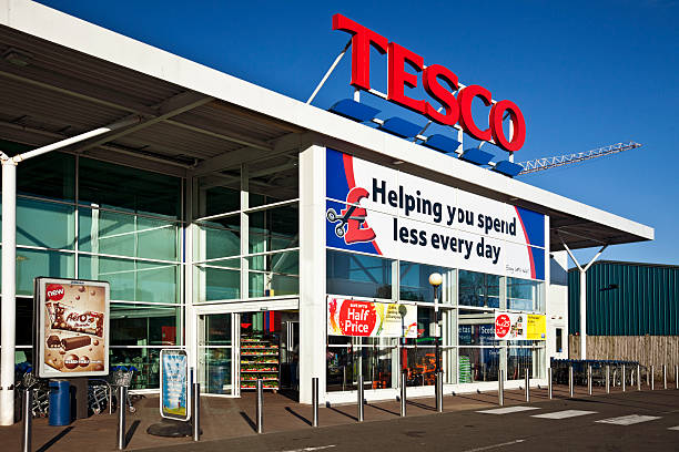Entrance to a Tesco Superstore in Scotland.
