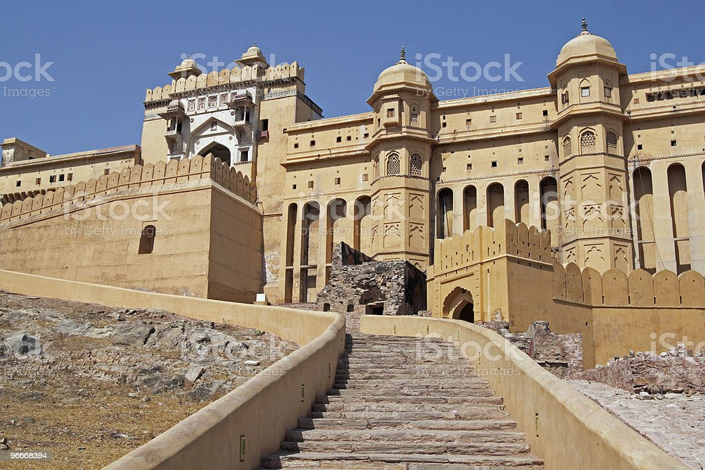 Entrance to Amber Fort royalty-free stock photo