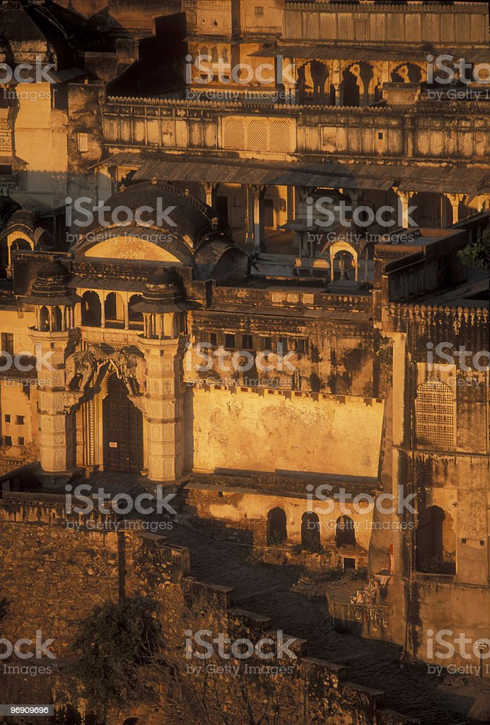 Entrance to an Indian Palace royalty-free stock photo