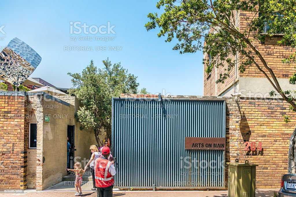 Entrance to Arts on Main in Johannesburg zbiór zdjęć royalty-free