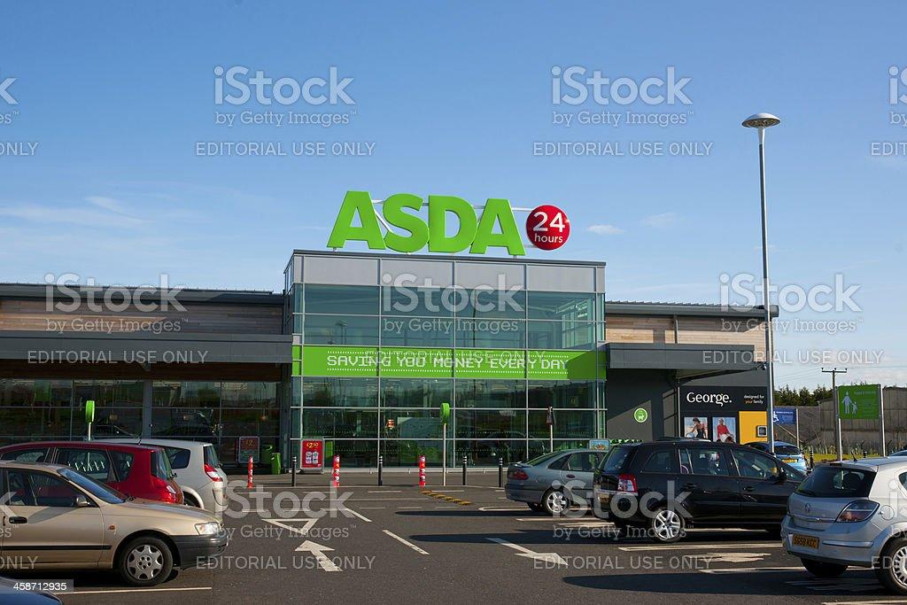 Entrance to Asda Supermarket stock photo