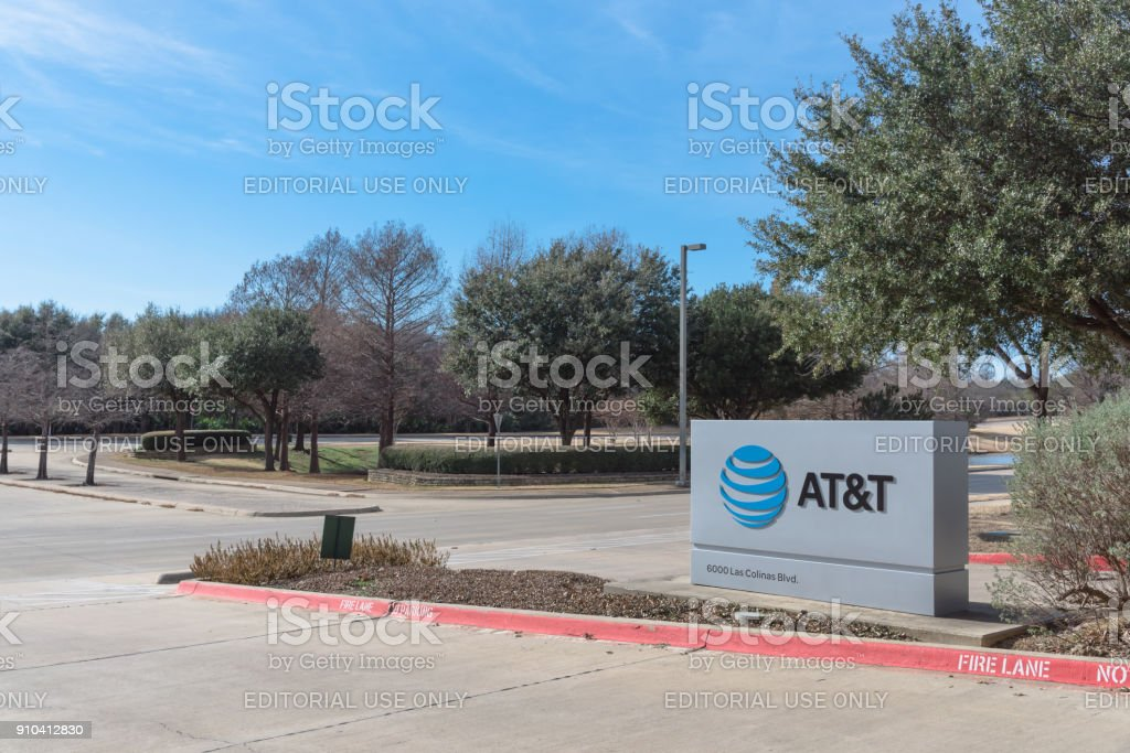 Entrance to AT&T Training Campus in Irving, Texas, USA stock photo
