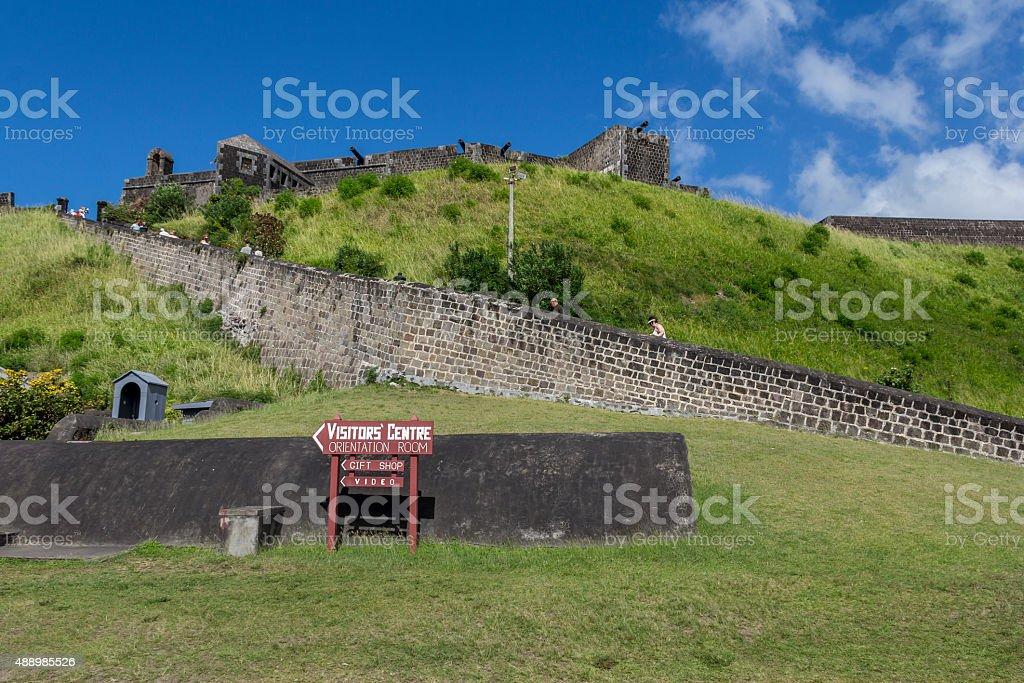 Entrance to Brimstone Hill fortress stock photo