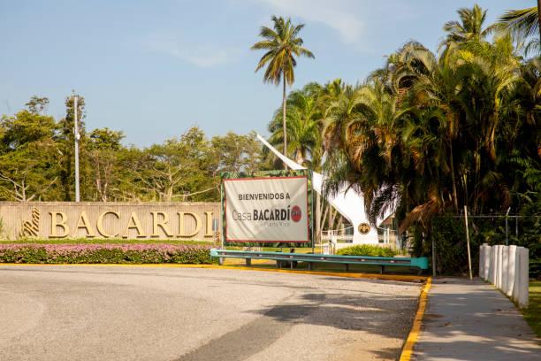 Entrance to Casa Bacardi in San Juan Puerto Rico stock photo