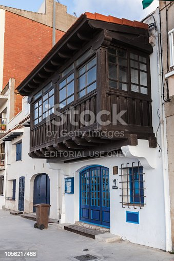 Calafell, Spain - August 18, 2014: Entrance to Casa Barral Museum, established in old fishermans shop where the poet, editor, writer and politician Carlos Barral lived