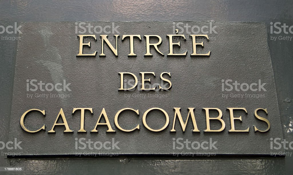 Entrance To Catacombs stock photo