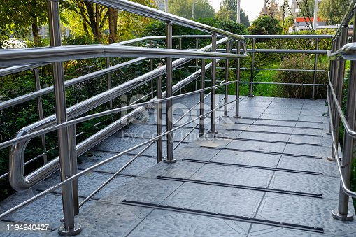 666724598 istock photo entrance to city store with special ramp for support disabled people using wheelchair 1194940427