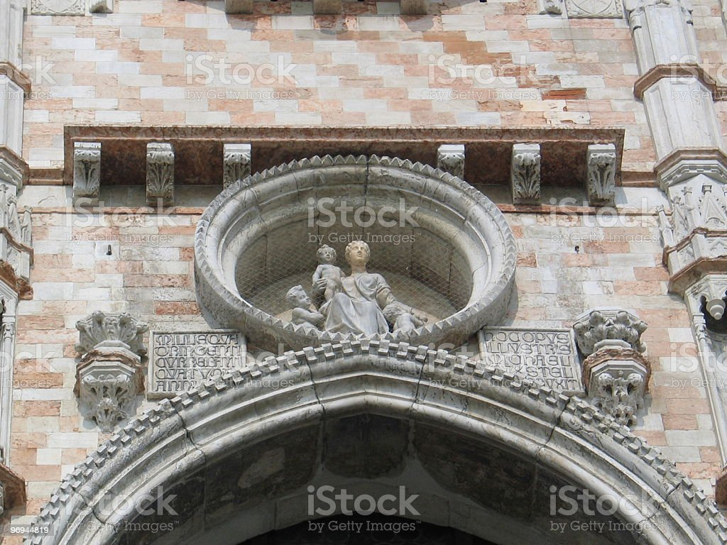 Entrance to Doges Palace royalty-free stock photo