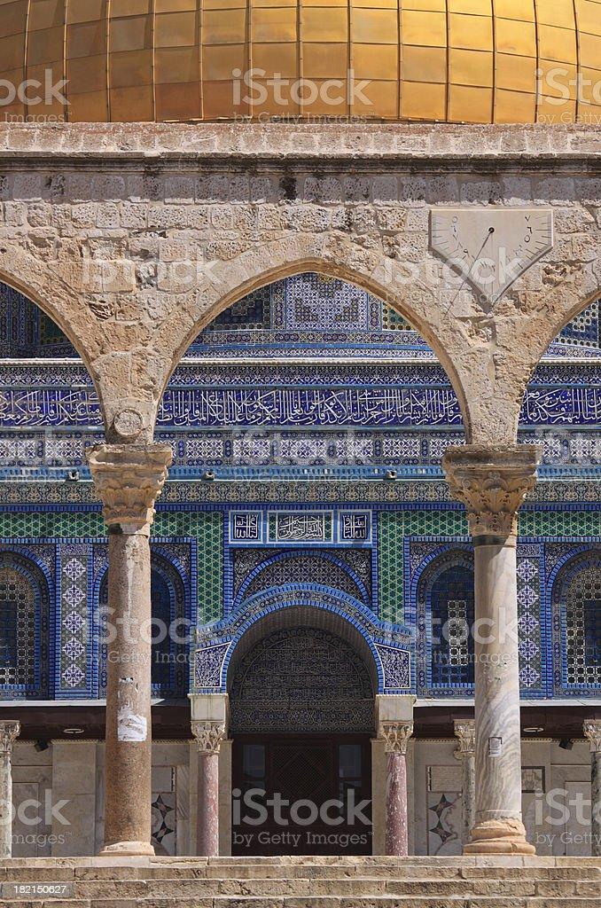 """Entrance to Dome Of The Rock """"Close-up of the entrance of Dome Of The Rock in Old Town of Jerusalem, Israel."""" Arch - Architectural Feature Stock Photo"""