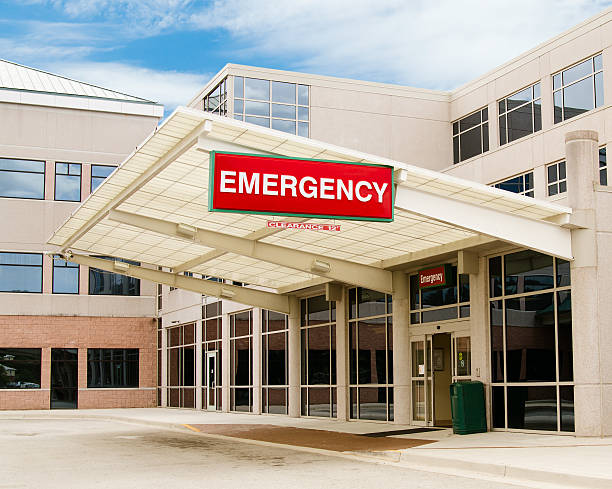 entrance to emergency room - entrance stock photos and pictures
