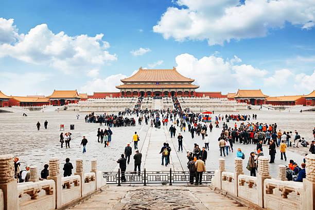 入口から紫禁城、北京、中国 - 北京 ストックフォトと画像