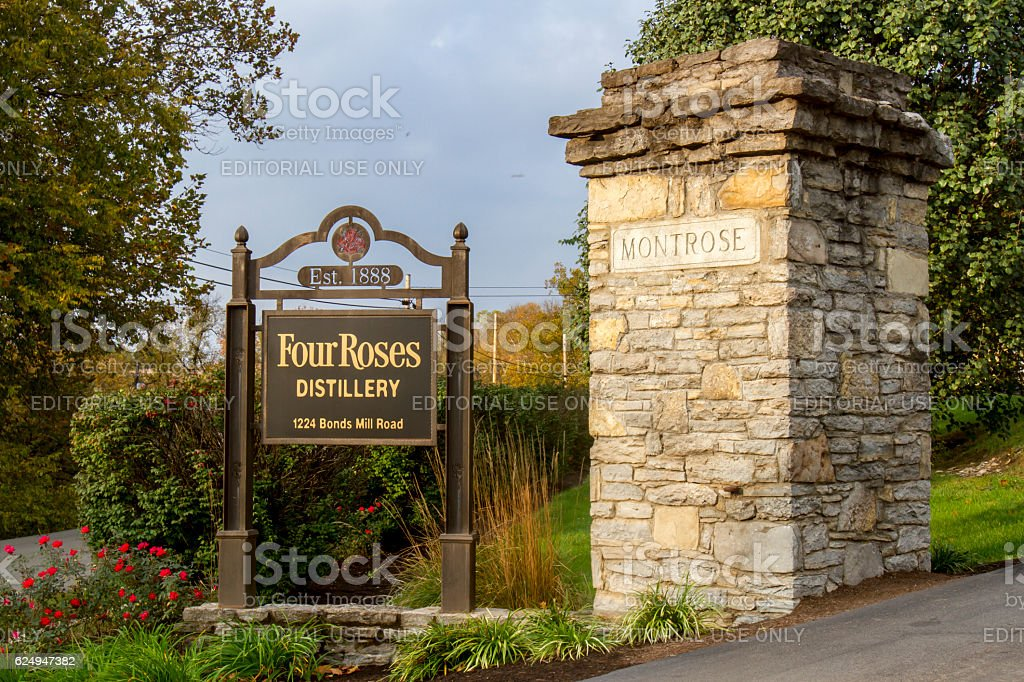 Entrance to Four Roses Distillery stock photo