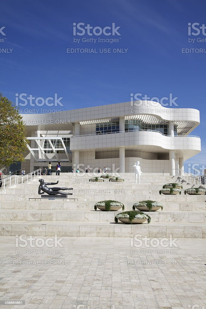 Entrance to Getty Centre, Los Angeles royalty-free stock photo