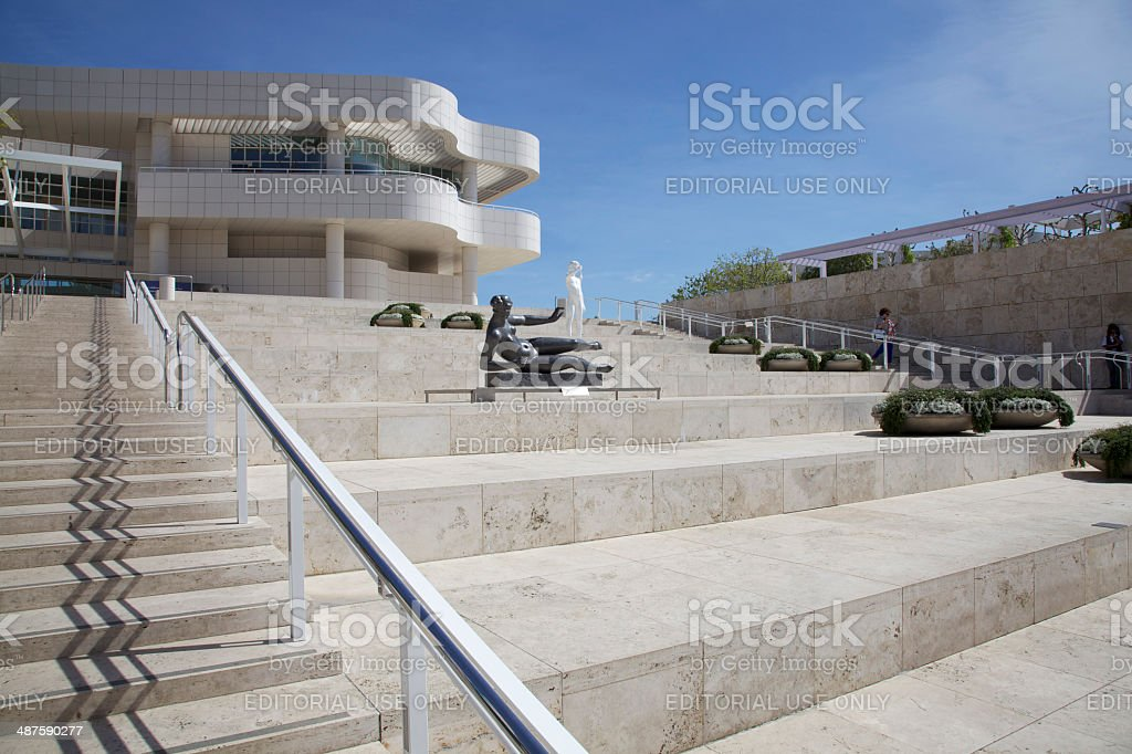 Entrance to Getty Centre, Los Angeles stock photo